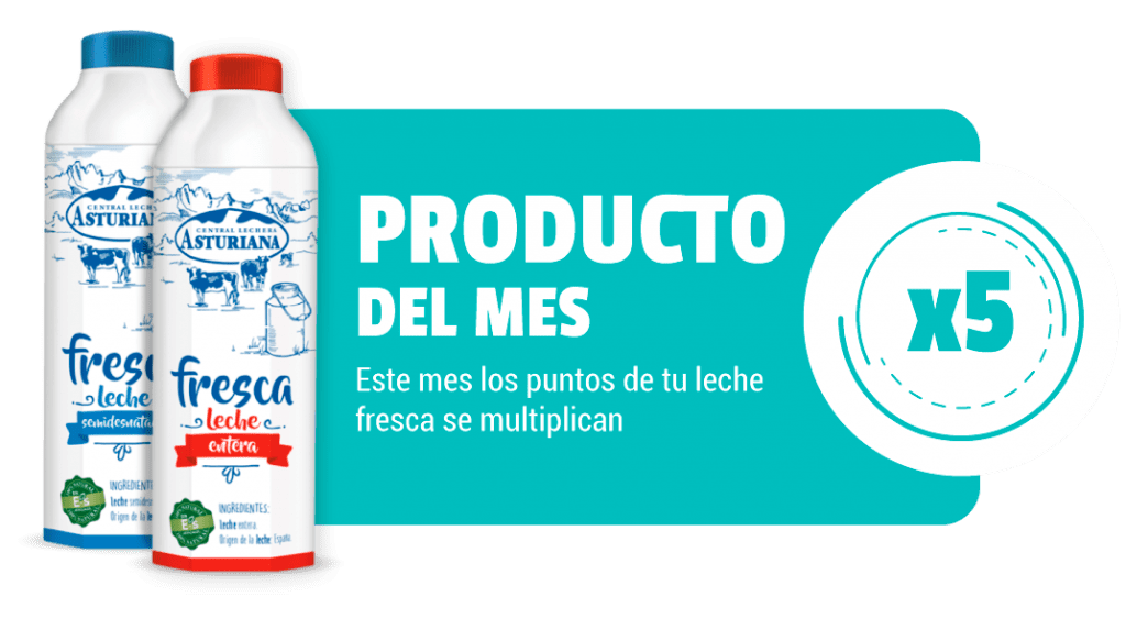 Producto del mes febrero leche fresca