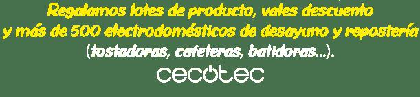 Regalamos lotes de producto, descuentos y electrodomésticos