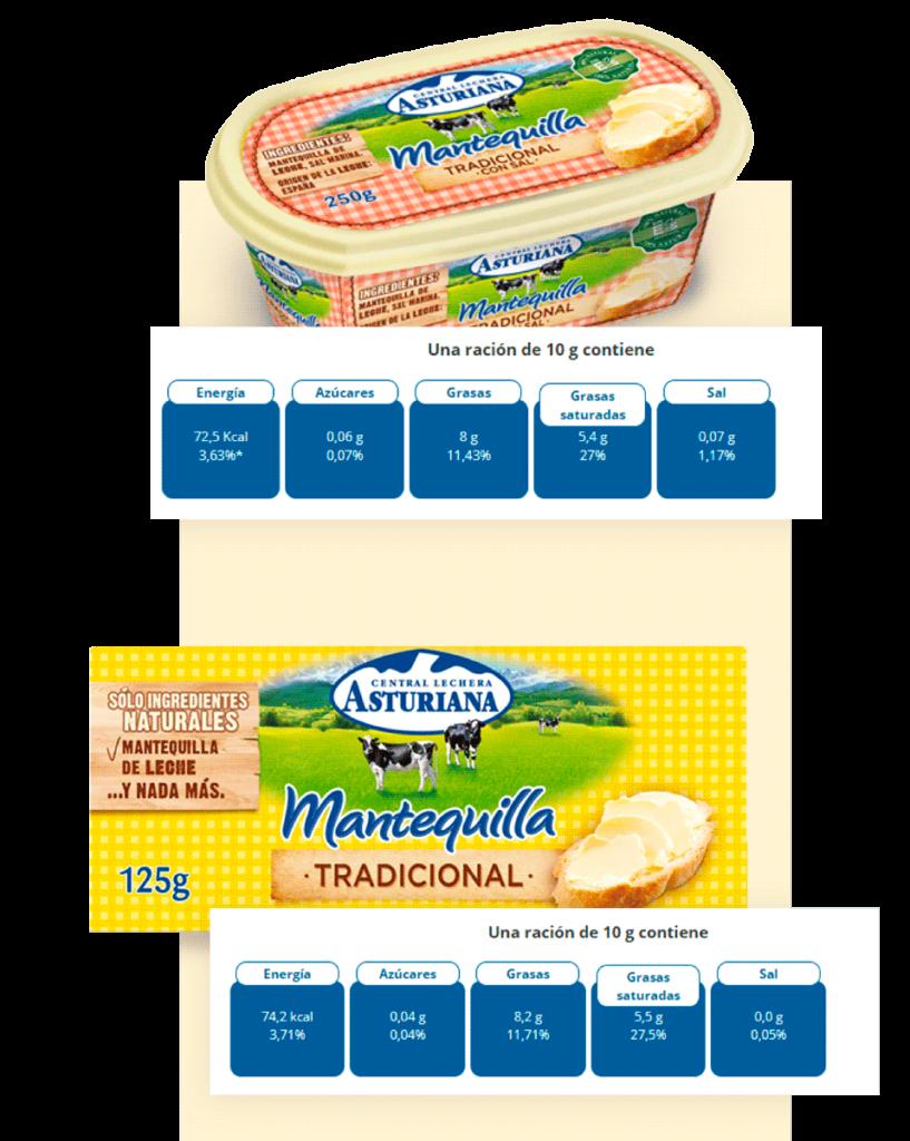 mantequilla etiquetado