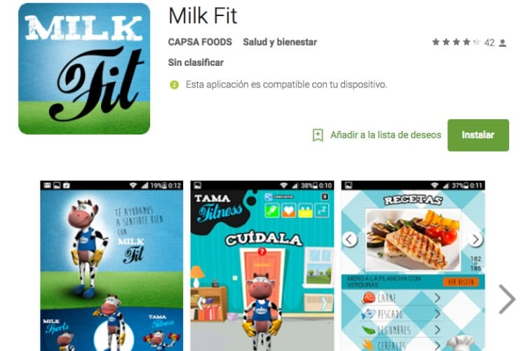 App Milk Fit, la nueva app de Central Lechera Asturiana que apuesta por la nutrición y el deporte