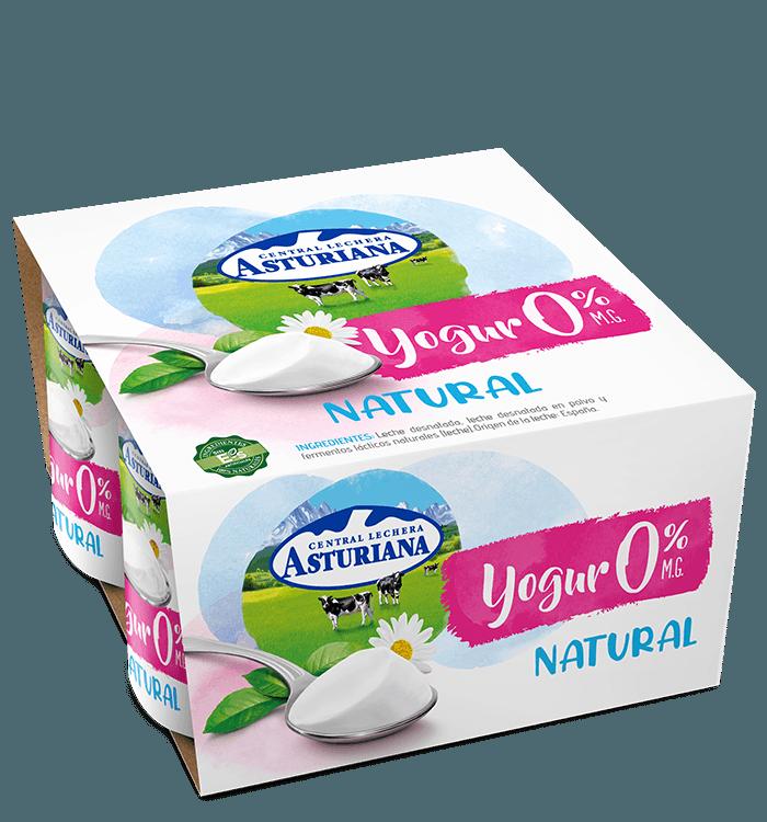 Yogur natural 0% MG Central Lechera Asturiana
