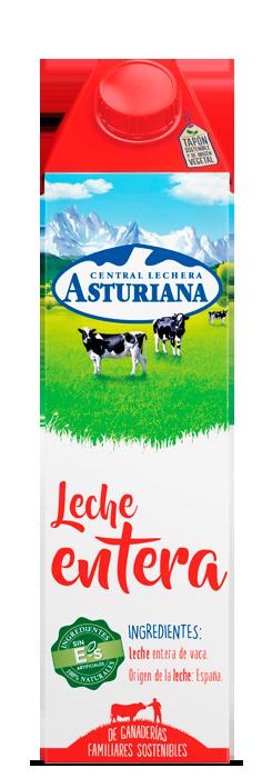 Leche en brik entera 1 L Central Lechera Asturiana