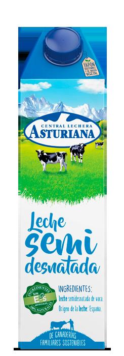 Leche en brik semidesnatada 1 L Central Lechera Asturiana
