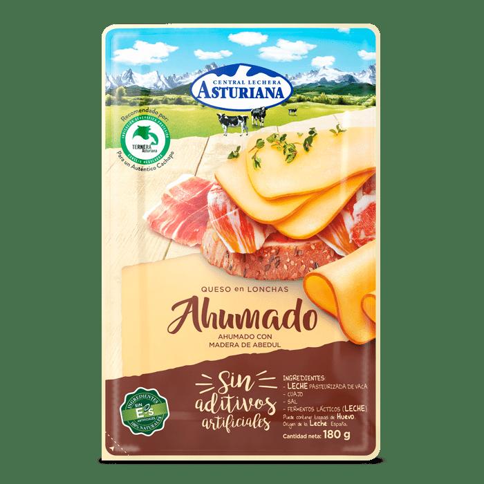 Queso en lonchas ahumado Central Lechera Asturiana