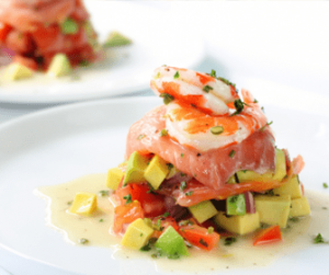 Ensalada de tomate aguacate y salmon ahumado central - Ensalada de aguacate y salmon ahumado ...