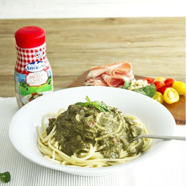 Nata para cocinar 200 ml central lechera asturiana - Como hacer espaguetis al pesto ...