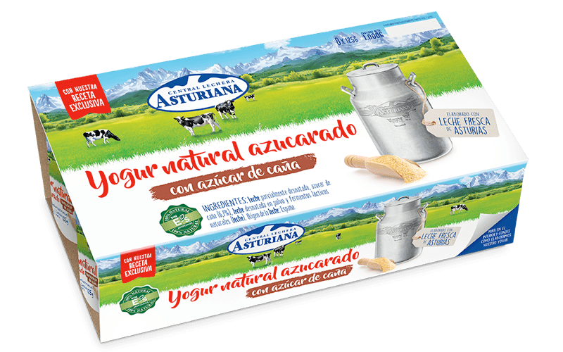 yogur natural azucarado