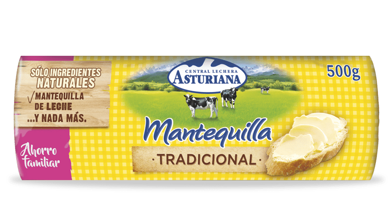 mantequilla tradicional rulo 500gr