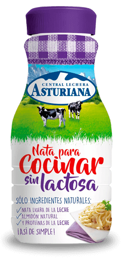 Nata para cocinar sin lactosa central lechera asturiana for Nata para cocinar mercadona