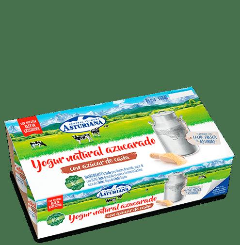 yogur natural azucarado