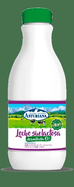 Botella leche desnatada sin lactosa 0%