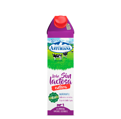 Leche sin lactosa desnatada 1 L Central Lechera Asturiana