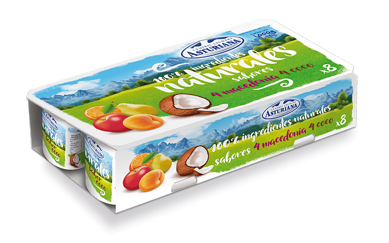 Yogur natural pack sabor macedonia