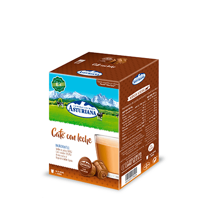 Cápsulas café con leche