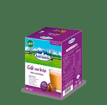 Cápsulas café con leche sin lactosa