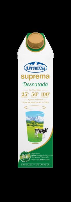 Leche Suprema desnatada 1 l Central Lechera Asturiana