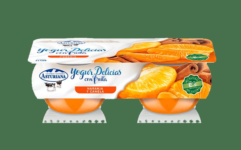 Yogur con naranja y canela de Central Lechera Asturiana