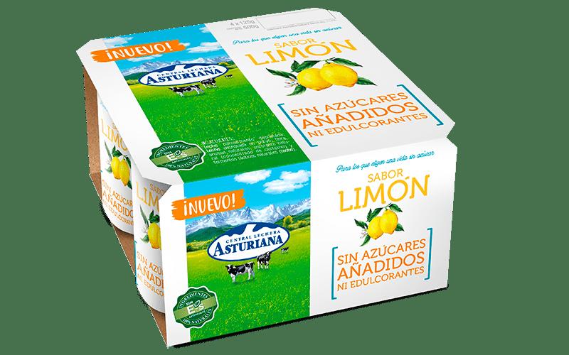 Yogur sabor limón sin azúcares añadidos ni edulcorantes de Central Lechera Asturiana