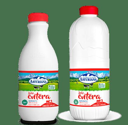 leche en botella entera