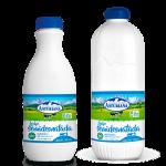 leche semidestada en botella