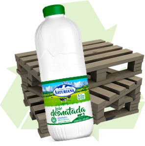 Botellas de leche reciclables