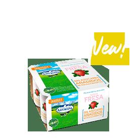 yogures sabor a fresa
