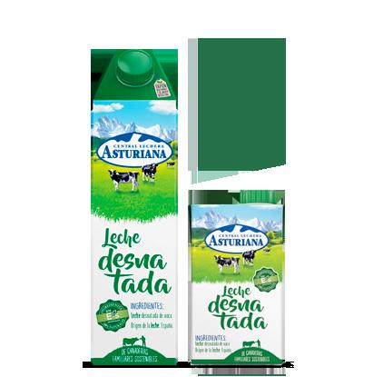 Leche Desnatada Central Lechera Asturiana