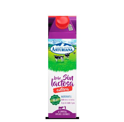 Leche sin lactosa entera Central Lechera Asturiana